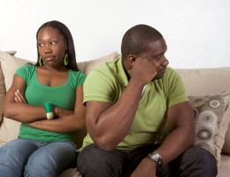 Couple in relationship crisis