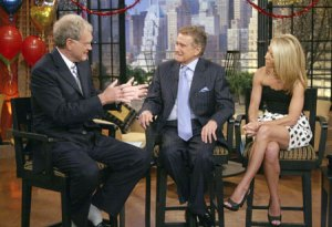 David Letterman with Regis Philbin