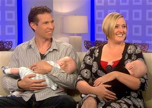 David and Kate Ogg with Newborns