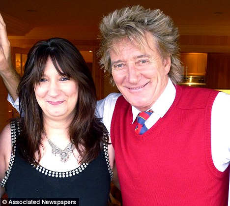Rod Stewart and Sarah Streeter
