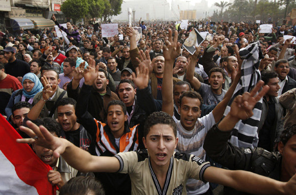 Protest in downtown Cairo, Egypt