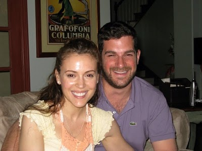 Alyssa Milano and David Bugliari