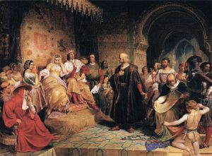 Queen Isabella Meets Christopher Columbus