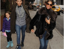Stacey Dash and her kids out and about in NYC