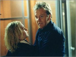 Kiefer Sutherland, Elisha Cuthbert, 24 Season 1 finale