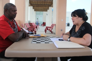 Yvette Costa meets with Veteran in Miami