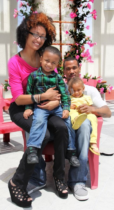 homeless Veteran family