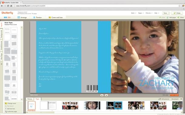 Shutterfly 8x8 photo book