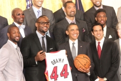 Miami Heat with President Obama
