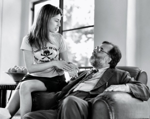 Sophia with dad, Francis Ford Coppola, in 1994.