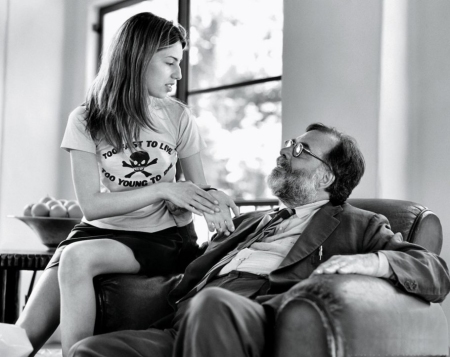 Sofia with dad, Francis Ford Coppola, in 1994.