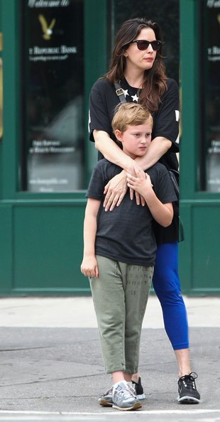 Liv Tyler with 8-year-old son Milo.