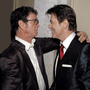Lou Reed with David Bowie in 2007.