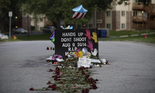 Michael Brown memorial in Ferguson, Missouri